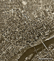 historical aerial photo map of St. Paul, Minnesota, 1947