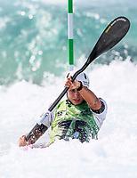 Noemie Fox (AUS). Oceania Canoe Slalom Championships, Whero Whitewater Park, Auckland, New Zealand, 1st February 2020. Photo: Simon Watts/www.bwmedia.co.nz