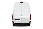 Straight rear view of 2021 Mercedes Benz eSprinter - 4 Door Cargo Van Rear View  stock images