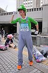Feb. 27, 2011 - Tokyo, Japan - A man dressed in as Luigi takes part in the Tokyo Marathon. (Photo by Daiju Kitamura/AFLO SPORT)
