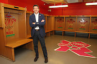 Lord Sebastian Coe poses in the home dressing room ahead of Great Britain Women vs New Zealand Women - Womens Olympic Football Tournament London 2012 Group E at the Millenium Stadium, Cardiff, Wales - 25/07/12 - MANDATORY CREDIT: Gavin Ellis/SHEKICKS/TGSPHOTO - Self billing applies where appropriate - 0845 094 6026 - contact@tgsphoto.co.uk - NO UNPAID USE.