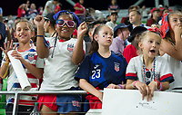 AUSTIN, TX - JUNE 16: Fans after a game between Nigeria and USWNT at Q2 Stadium on June 16, 2021 in Austin, Texas.