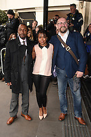 Tony Marshall, Azuka Oforka and Charles Dale<br /> arriving for the TRIC Awards 2016 at the Grosvenor House Hotel, Park Lane, London<br /> <br /> <br /> ©Ash Knotek  D3095 08/03/2016