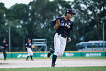#49 Odajima Mami of Japan serving during the BFA Women's Baseball Asian Cup match between Pakistan and Japan at Sai Tso Wan Recreation Ground on September 4, 2017 in Hong Kong. Photo by Marcio Rodrigo Machado / Power Sport Images