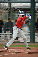 Jackson Gazin (4) of BOYS' LATIN High School in Reisterstown, Maryland during the Under Armour All-American Pre-Season Tournament presented by Baseball Factory on January 14, 2017 at Sloan Park in Mesa, Arizona.  (Art Foxall/MJP/Four Seam Images)