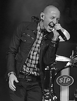 SMG_Chester Bennington_FLXX_BB&T_091713_12.JPG<br /> <br /> SUNRISE, FL - SEPTEMBER 17:   Chester Bennington performs on stage with Stone Temple Pilots at BB&T Center on September 17, 2013 in Sunrise, Florida.  (Photo By Storms Media Group)   <br /> <br /> People:  Chester Bennington<br /> <br /> Transmission Ref:  FLXX<br /> <br /> Must call if interested<br /> Michael Storms<br /> Storms Media Group Inc.<br /> 305-632-3400 - Cell<br /> 305-513-5783 - Fax<br /> MikeStorm@aol.com