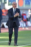 Claudio Ranieri coach of UC Sampdoria reacts during the Serie A football match between SS Lazio and UC Sampdoria at Olimpico Stadium in Roma (Italy), February 20th, 2021. Photo Antonietta Baldassarre / Insidefoto
