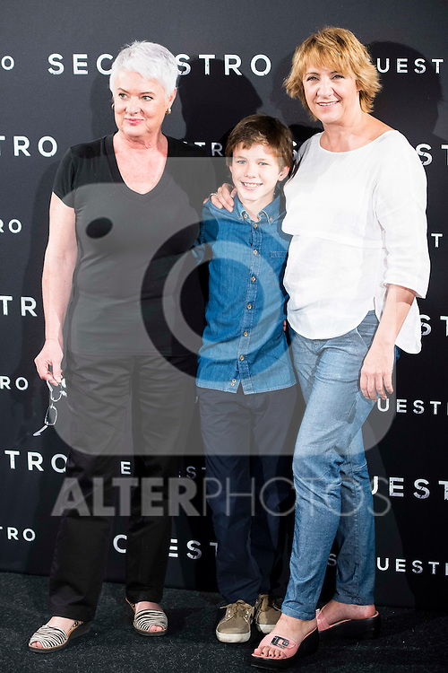 "The director of the film, Mar Targarona, Marc Domenech and Blanca Portillo during the presentation of the spanish film ""Secuestro"" in Madrid. July 27. 2016. (ALTERPHOTOS/Borja B.Hojas)"