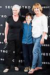 "The director of the film, Mar Targarona, Marc Domenech and Blanca Portillo during the presentation of the spanish film ""Secuestro"" in Madrid. July 27. 2016. (ALTERPHOTOS/Borja B.Hojas)"