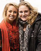 Tori Hickel (NU - 55), Chelsey Goldberg (NU - 24) - The Boston College Eagles defeated the Northeastern University Huskies 6-3 for their fourth consecutive Beanpot championship on Monday, February 11, 2013, at TD Garden in Boston, Massachusetts.