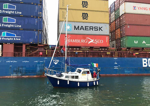 Vessels large and small took part in Poolbeg's Blessing of the Boats in late August