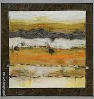 Quilt by artist Marie Jensen, using appliqué, a fusible web and hand painted fabrics.