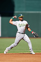 Oakland Athletics Richie Martin (10) during an Instructional League game against the Arizona Diamondbacks on October 15, 2016 at Chase Field in Phoenix, Arizona.  (Mike Janes/Four Seam Images)