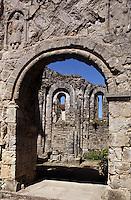 Europe/France/Midi-Pyrénées/46/Lot/Vallée du Célé/Marcillac-sur-Célé: Détail de l'Abbaye