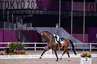 ESP-Beatriz Ferrer-Salat rides Elegance during the Dressage Grand Prix Team Final at the Equestrian Park. Tokyo 2020 Olympic Games. Tuesday 27 July 2021. Copyright Photo: Libby Law Photography