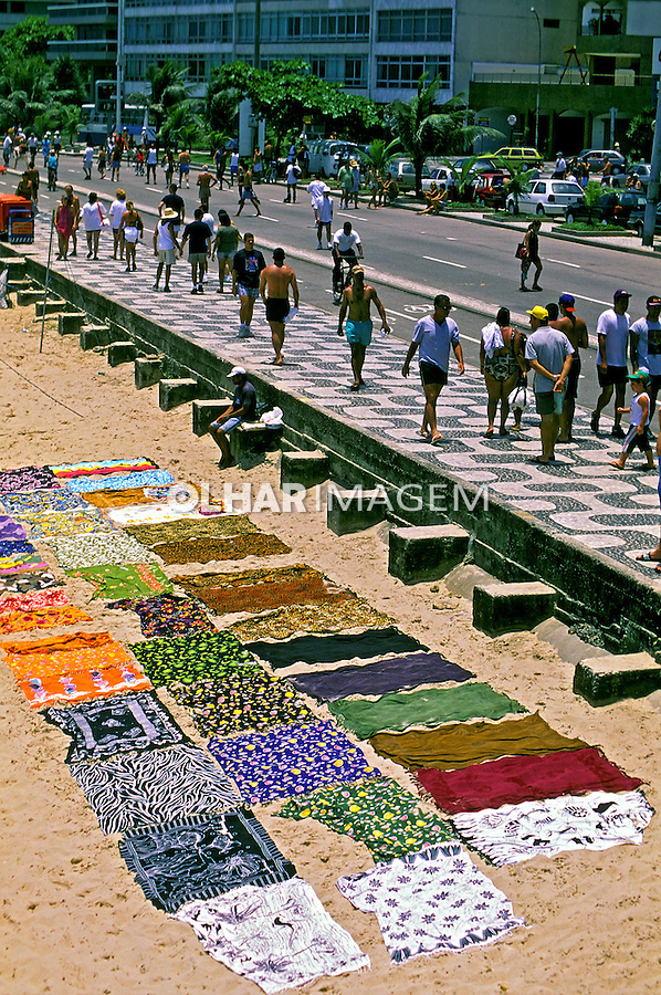 Calçadão da praia de Ipanema. Rio de Janeiro. 1999. Foto de Juca Martins.