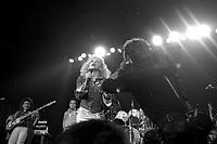 FILE PHOTO -  <br />  Martine Saint-Clair<br /> au party de Musique Plus, le 2 septembre 1986, au spectrum.<br /> <br /> PHOTO : Pierre Roussel<br />  - Agence Quebec Presse