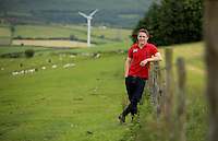 Leave the EU voter Jacob Anthony at his family's Cwm Risca farm in Tondu, near Bridgend, Wales, UK. Monday 13 June 2016