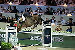 Joe Clee on Vedet de Muze E T competes during Longines Speed Challenge at the Longines Masters of Hong Kong on 20 February 2016 at the Asia World Expo in Hong Kong, China. Photo by Li Man Yuen / Power Sport Images