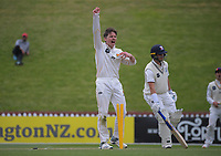 Michael Bracewell appeals during day three of the Plunket Shield match between the Wellington Firebirds and Auckland Aces at the Basin Reserve in Wellington, New Zealand on Monday, 16 November 2020. Photo: Dave Lintott / lintottphoto.co.nz