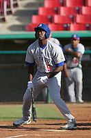 May 16, 2010: Todd Johnson of the Stockton Ports during game against the High Desert Mavericks at Mavericks Stadium in Adelanto,CA.  Photo by Larry Goren/Four Seam Images