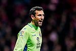 Goalkeeper Diego Lopez of RCD Espanyol reacts during the La Liga 2018-19 match between Atletico de Madrid and RCD Espanyol at Wanda Metropolitano on December 22 2018 in Madrid, Spain. Photo by Diego Souto / Power Sport Images