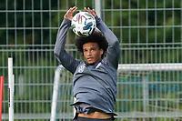 Leroy Sane (Deutschland, Germany) macht den Torwart - 31.08.2020: Erstes Training der Deutschen Nationalmannschaft vor dem Nations League gegen Spanien, ADM Sportpark Stuttgart