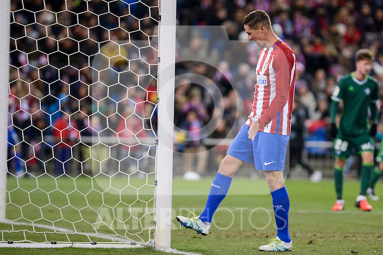 Atletico de Madrid's Fernando Torres during La Liga match between Atletico de Madrid and Real Betis at Vicente Calderon Stadium in Madrid, Spain. January 14, 2017. (ALTERPHOTOS/BorjaB.Hojas)