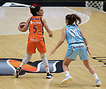 Semifinal de la Copa de la Reina de Baloncesto 2021.<br /> Valencia Basket - Lointek Guernika.<br /> 6 de marzo de 2021.<br /> Valencia - España.