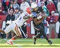 COLUMBIA, SOUTH CAROLINA - November 14, 2015: South Carolina Gamecocks play the #11 ranked Florida Gators at Williams-Brice StadiumSanford Stadium. Final score Florida 24, South Carolina 14.