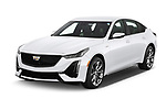 2020 Cadillac CT5-V V-Series 4 Door Sedan Angular Front automotive stock photos of front three quarter view