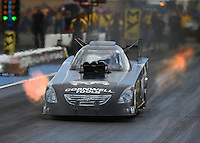 Jul 23, 2016; Morrison, CO, USA; NHRA funny car driver Jim Campbell during qualifying for the Mile High Nationals at Bandimere Speedway. Mandatory Credit: Mark J. Rebilas-USA TODAY Sports