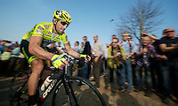 E3 Prijs Harelbeke 2012.Oscar Gatto up the Oude Kwaremont