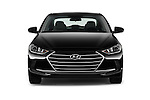 Car photography straight front view of a 2017 Hyundai Elantra SE 4 Door Sedan Front View