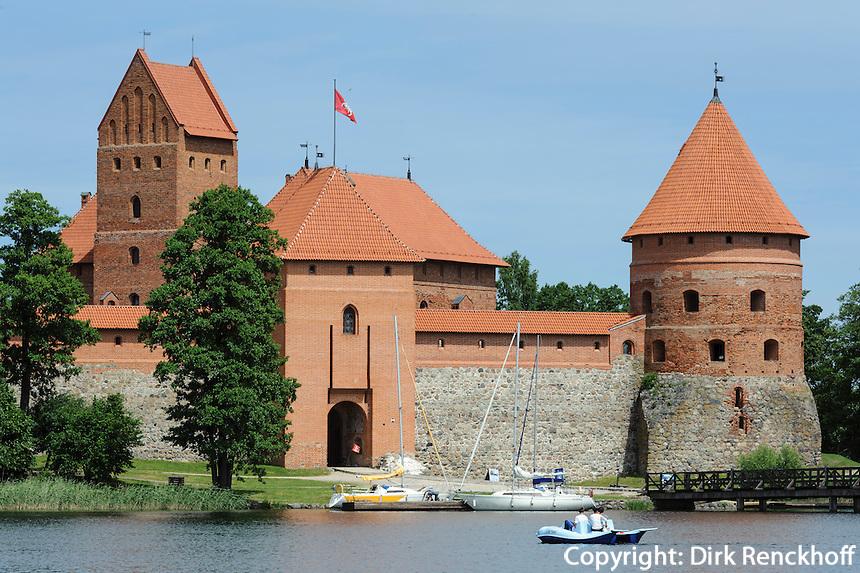 Schloss Trakai bei Vilnius, Litauen, Europa