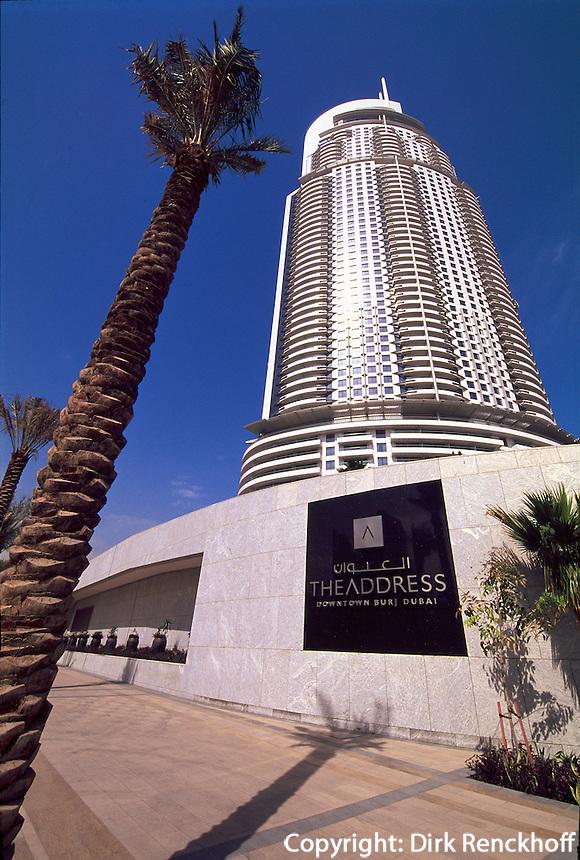 Vereinigte arabische Emirate (VAE, UAE), Dubai, Hotel The Adress in Burj Dubai