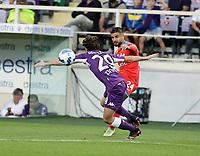 3rd October 2021; Franchi Stadium, Florence, Italy; Serie A football, Fiorentina versus Napoli : Lorenzo Insigne of Napoli challenges Alvaro Odfriozola of Fioren tina