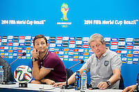 England manager Roy Hodgson and Frank Lampard