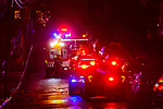 WATERBURY, CT. 31 December 2018-123118 - Waterbury EMT, Fire, and Police respond to a hit-n-run with a pedestrian on Rose Street in Waterbury on Monday. Bill Shettle Republican-American