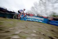 Koppenbergcross 2013<br /> <br /> British Champion Ian Field (GBR) descending