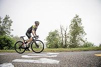 Adam Yates (GBR/Mitchelton-Scott) up the very steep finale of the Mur de Péguère (CAT1/9.3km@7.9%)<br /> <br /> tage 15: Limoux to Foix(185km)<br /> 106th Tour de France 2019 (2.UWT)<br /> <br /> ©kramon