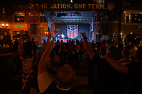 Orlando, FL - Friday Oct. 06, 2017: US Soccer Fan Rally before a 2018 FIFA World Cup Qualifier between the men's national teams of the United States (USA) and Panama (PAN) at Orlando City Stadium.