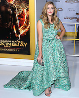 LOS ANGELES, CA, USA - NOVEMBER 17: Willow Shields arrives at the Los Angeles Premiere Of Lionsgate's 'The Hunger Games: Mockingjay, Part 1' held at Nokia Theatre L.A. Live on November 17, 2014 in Los Angeles, California, United States. (Photo by Xavier Collin/Celebrity Monitor)