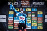 David de la Cruz (ESP/UAE-Emirates) is the Polka Dot Jersey winner / KOM overall leader<br /> <br /> Stage 5: Megève to Megève (154km)<br /> 72st Critérium du Dauphiné 2020 (2.UWT)<br /> <br /> ©kramon