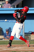 Batavia Muckdogs outfielder David Medina #44 during a game against the Auburn Doubledays at Dwyer Stadium on July 17, 2011 in Batavia, New York.  Batavia defeated Auburn 8-3.  (Mike Janes/Four Seam Images)