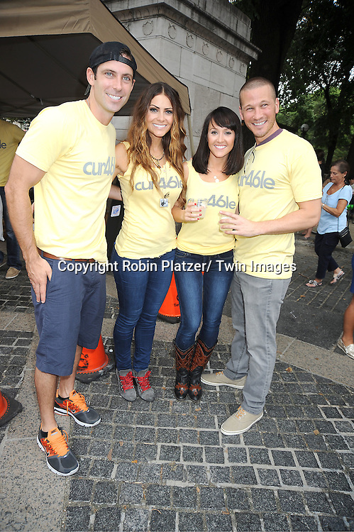 Graham Bunn, Michelle Money, Ashley Hebert and finacee JP Rosenbaum attend The Alex's Lemonade Stand Foundation fundraiser benefiting pediatric cancer research. Graham Bunn from Bachelor Pad along with his company 46 NYC are sponsoring Alex's stand on September 25, 2011 at Merchants Gate in Central Park.
