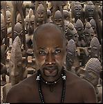 Babacar, nato in Senegal, vive in Italia dal 1983.<br /> Dalla serie di ritratti ispirati a I Versi Satanici di Salman Rushdie, in rappresentanza delle principali culture spirituali del pianeta.