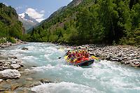 Raft non loin des 2 Alpes