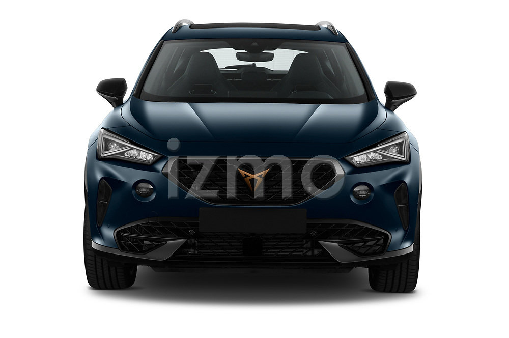 Straight front view of a 2021 Cupra Formentor SUV