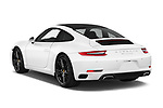Car pictures of rear three quarter view of a 2018 Porsche 911 Carrera 2 Door Coupe angular rear